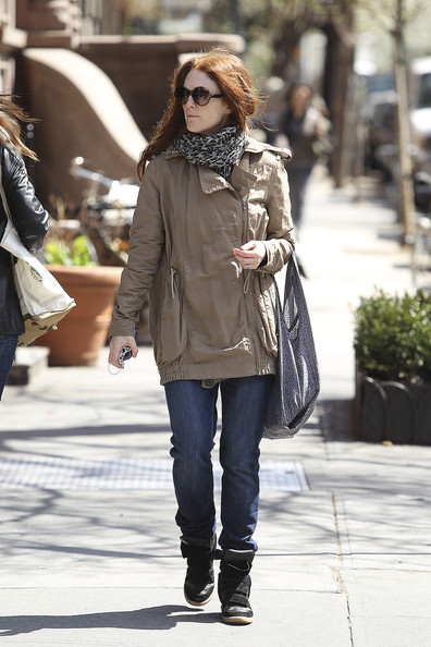 Julianne-moore-and-isabel-marant-perkins-suede-and-leather-wedge-sneakers-gallery